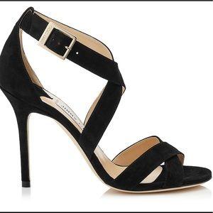 Jimmy Choo Black Leather Lottie High Heels